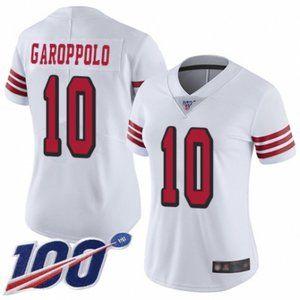 Women 49ers Jimmy Garoppolo 100th Season Jersey (4